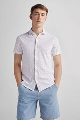 Fifty Outlet Camisa Piqué Estampada Natural