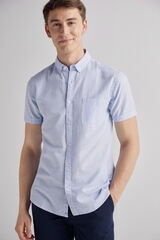 Fifty Outlet Camisa denim estampada Lifeway Azul