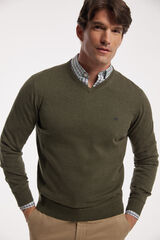 Fifty Outlet Jersey cuello pico Verde