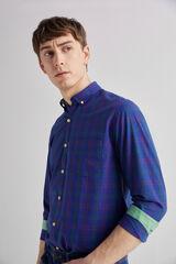Fifty Outlet Camisa popelín cuadros Azul marino