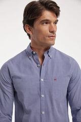 Fifty Outlet Camisa Popelín Vichy Azul marino