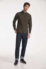Fifty Outlet Camisa Micropana Lisa Verde