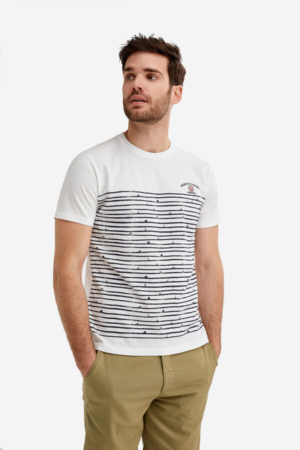 512a196909963 Fifty Factory Camiseta estampada Blanco · Comprar
