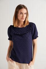 Fifty Outlet Camiseta Troquelada Azul marino