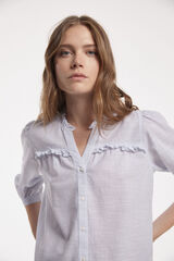 Fifty Outlet CAMISA VOLANTES Azul