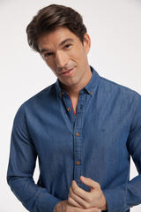 Fifty Outlet Camisa Denim Lisa PDH Azul