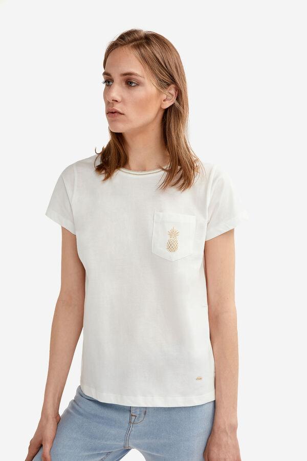6c530d70b9 Fifty Factory Camiseta lúrex Blanco · Comprar