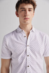 Fifty Outlet Camisa piqué print Blanco
