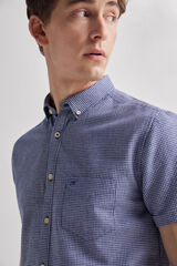 Fifty Outlet Camisa lino vichy Azul