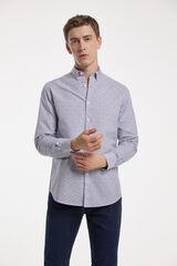 Fifty Outlet Camisa micro estampada Blanco