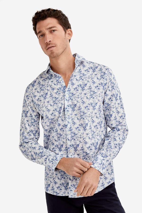Fifty Factory Camisa estampada Azul 704c6486da574
