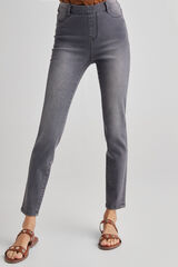 Fifty Outlet Pantalón jegging denim Gris