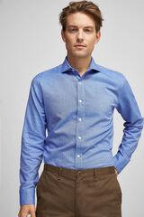 Fifty Outlet Camisa micro estampado Azul