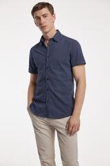 Fifty Outlet Camisa Piqué Estampada Azul marino