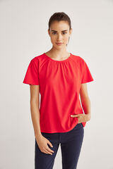 Fifty Outlet Camiseta canalé Rojo