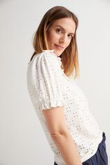 Fifty Outlet Camiseta Troquelada Blanco