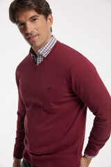 Fifty Outlet Jersey cuello pico Granate