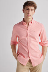 Fifty Outlet Camisa Lino Lisa Rojo