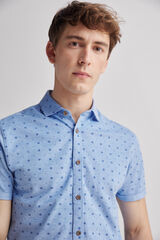 Fifty Outlet Camisa piqué print Azul