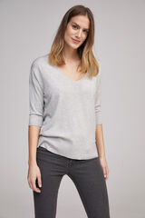 Fifty Outlet Jersey básico pico Gris