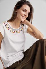 Fifty Outlet Camiseta de punto de algodón Crudo