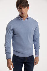 Fifty Outlet Jersey cuello caja Azul