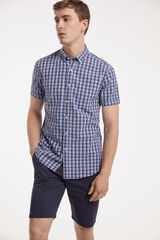 Fifty Outlet Camisa cuadros Azul