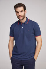 Fifty Outlet Polo piqué Azul marino