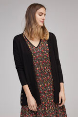 Fifty Outlet Cardigan básico botones Negro