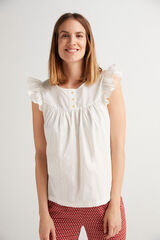 Fifty Outlet Blusa plumetti cru