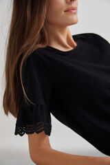 Fifty Outlet T-shirt orgânica preto