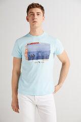 Fifty Outlet Camiseta cuello redondo Azul