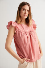 Fifty Outlet Blusa plumetti rosa
