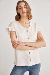 Fifty Outlet T-shirt botões branco