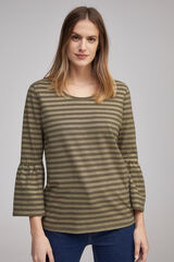 Fifty Outlet Camiseta rayas lurex Gris