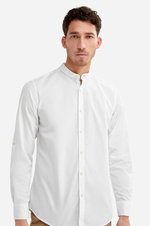 ca1f72280 Fifty Factory Camisa cuello mao Blanco
