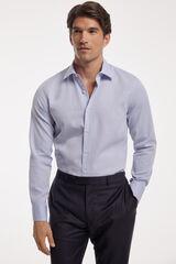 Fifty Outlet Camisa Vestir Estrutura mix azul