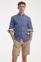 Fifty Outlet Camisa lisa Azul
