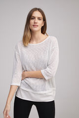 Fifty Outlet T-shirt combinada cinza