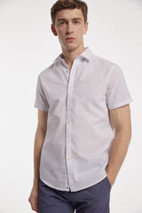 Fifty Outlet Camisa lino print Blanco