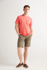 Fifty Outlet Camiseta algodón slub Terracota