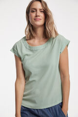 Fifty Outlet BLUSA TACHAS Gris oscuro
