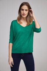 Fifty Outlet Camisola básica bico verde