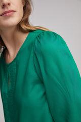 Fifty Outlet Blusa combinada botones Verde