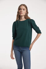 Fifty Outlet T-SHIRT TEXTURA verde escuro