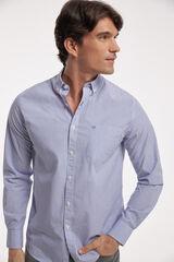 Fifty Outlet Camisa Popelín Estampada Azul marino
