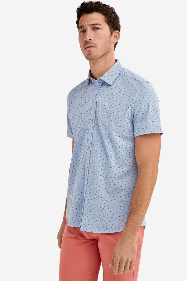 21d17d320 Fifty Factory Camisa piqué Azul