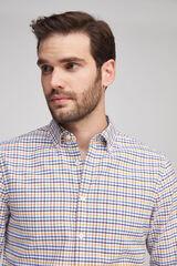 Fifty Outlet Camisa oxford xadrez marinho mistura