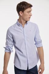 Fifty Outlet Camisa desportiva lisa azul indigo