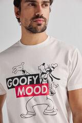 Fifty Outlet Camiseta estampada algodón Crudo